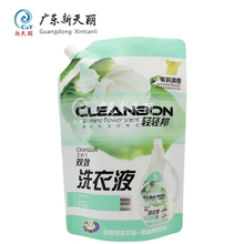 Wholesale high temperature resistance liquid stand-up plastic spout pouch packaging detergent bag