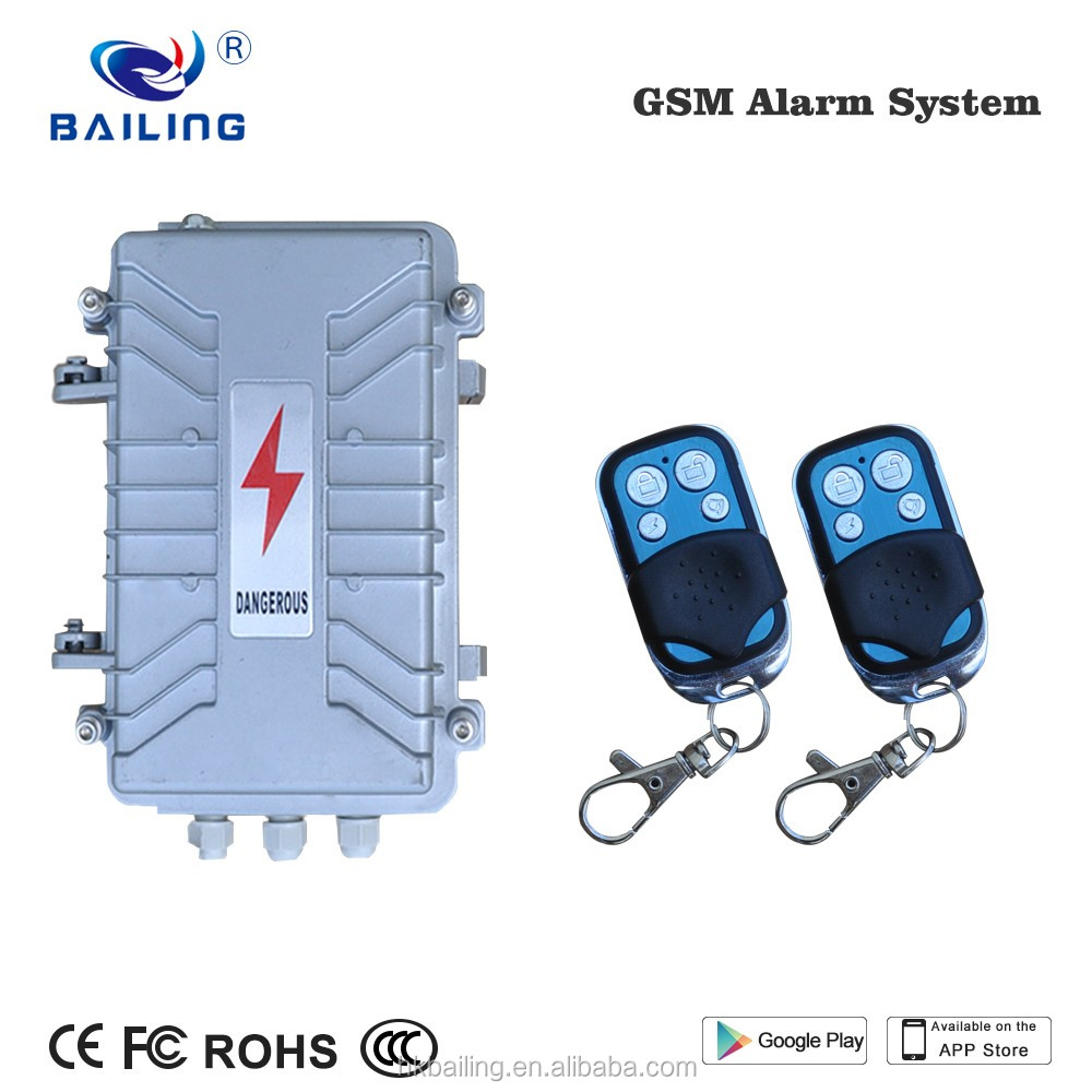 Durable Aluminum waterproof transformer GSM Alarm system Anti-Thief Vibration and pedal alarm system wireless support APP