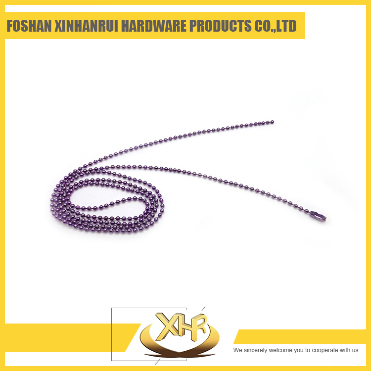 Cheap color iron bead chain necklace