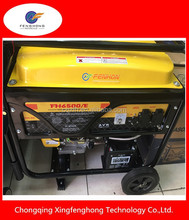 FENGHON stable voltage 4 Stroke Single Cylinder Style Power 5000w 5kva Gasoline Generator for sale