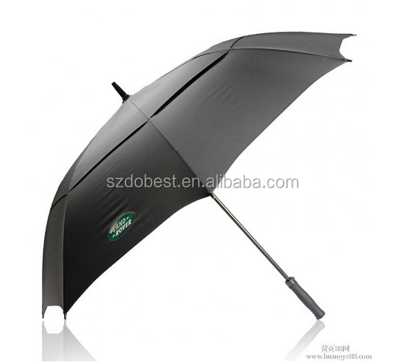 Double layer storm auto open promotional golf umbrella