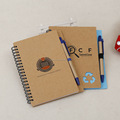 Die cut Eco Friendly Spiral Notebook with custom LOGO printing