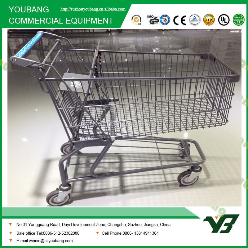 American Style Supermarket Shopping Trolley With Babyseat