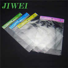Plain Plastic Sealed Hang Hole Clear Wholesale Custom Printed Poly Bags