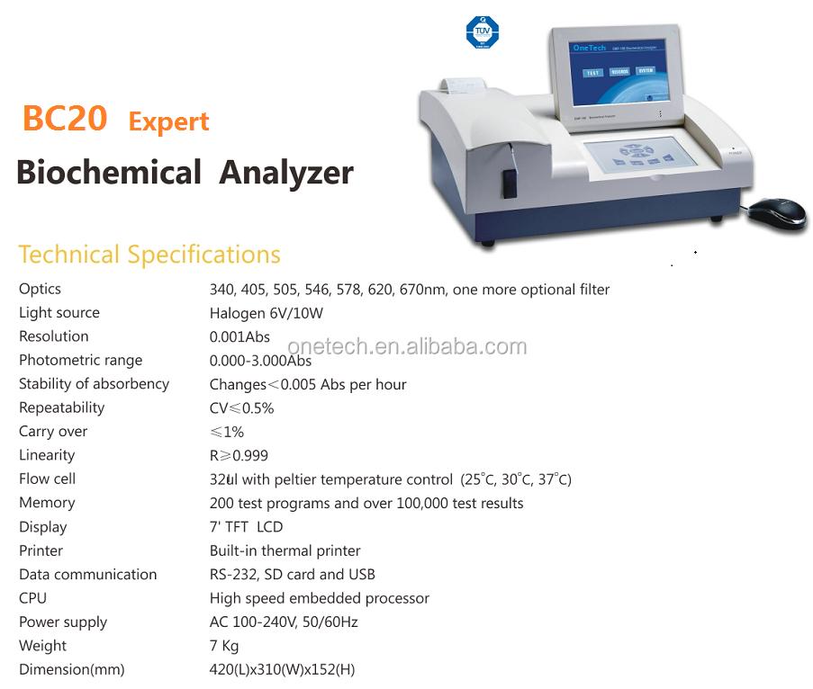 Automation biochemistry analyzers /Laboratory equipment biochemistry/biochemistry machine BC20P