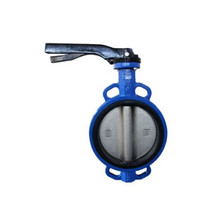 Aluminum Handle Cast Iron Body Wafer Butterfly Valve