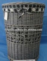 willow laundry baskets,wicker laundry baskets,The Grey color