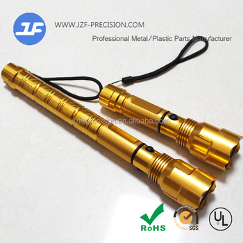Aluminum CNC Machining products of LED Aluminum flashlight torch flashlight manufacturers