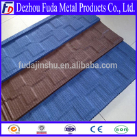 Flat type sand coated steel roof tiles hot sale indonesia