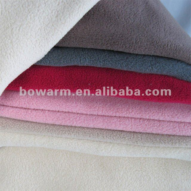 100% Polyester Polar Fleece One Side Anti-Pilling knitting Fabric