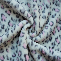 cheap soft touch deer vein printed coral fleece fabric for baby blanket