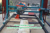 double cut electric log cutting saw / electric woodworking tool