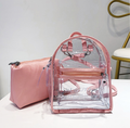 Transparent pvc vinyl backpack Travel Bag Clear Unisex Transparent School Backpack