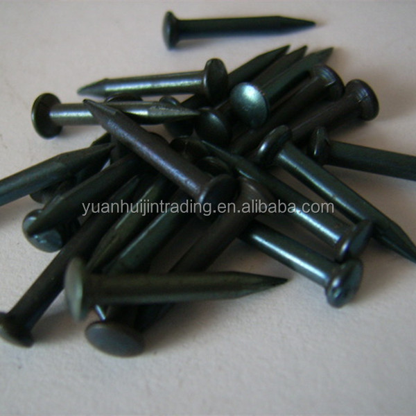 Black Zinc Brick Wall Concrete steel Nails