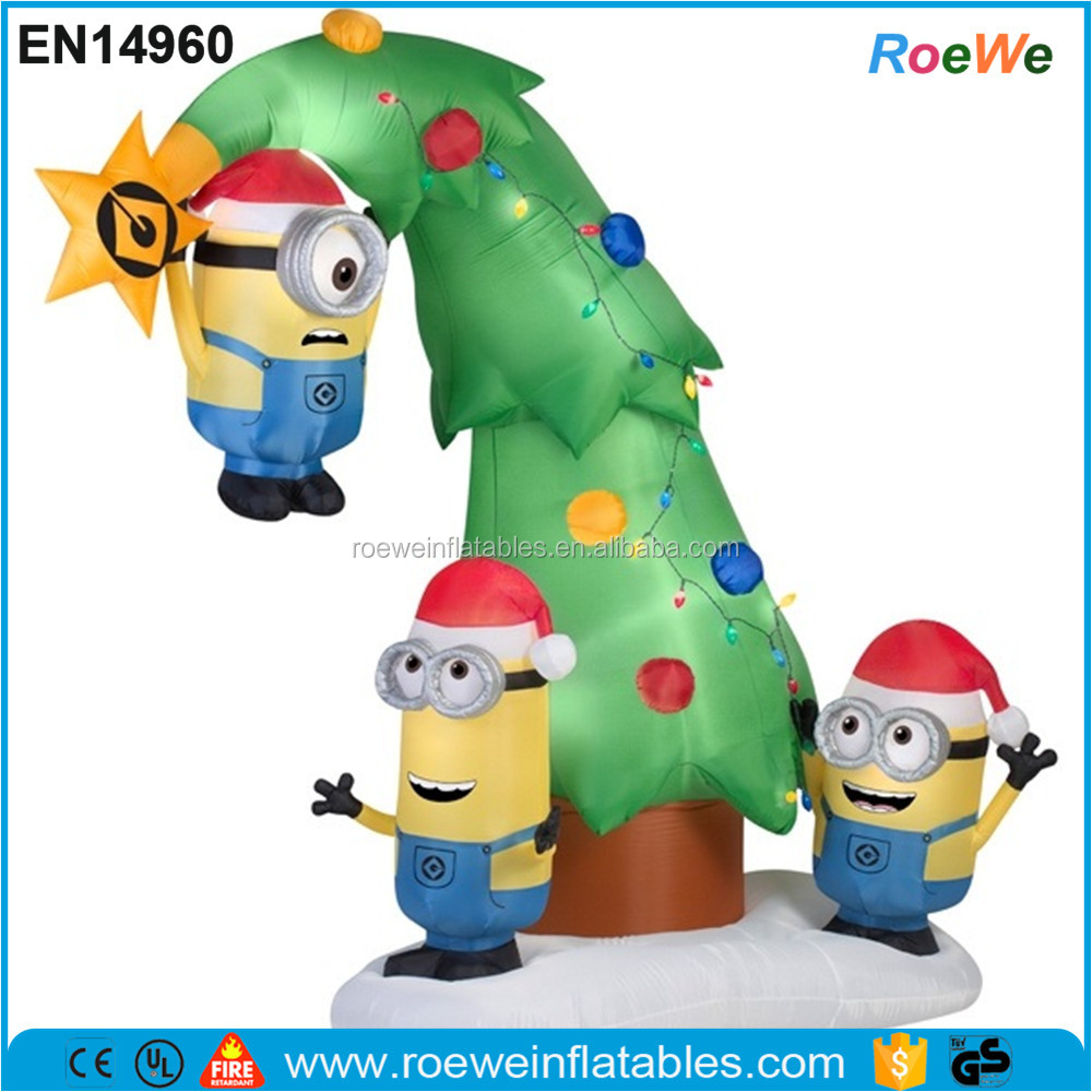 Despicable Me Minions Tree Christmas Inflatable