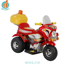 WDHL218 Rechargeable Battery Motor Motorcycle China Factory Toys Remote Control Baby Carriage