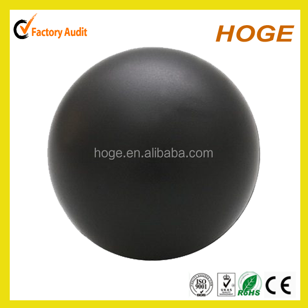 40MM PU Foam Black Stress Ball