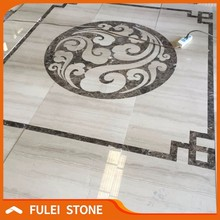 Modern polished elevator marble inlay flooring design