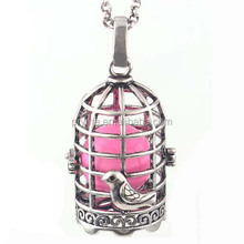 Pet bird cage design embossment animal pattern simple pendant necklace Engelsrufer for women