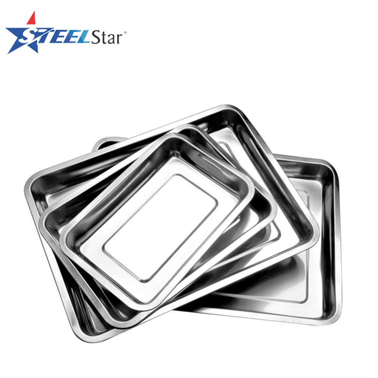 Stainless steel india wedding decoration food serving tray