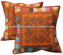 Ethnic design patch chicken work cotton cushion cover 45*45cm