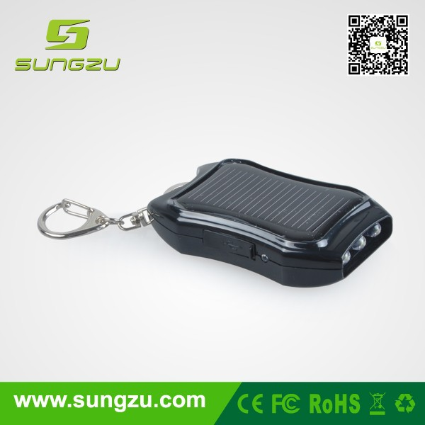 Wholesale solar mobile phone charger keyring from China, smallest solar panel charger