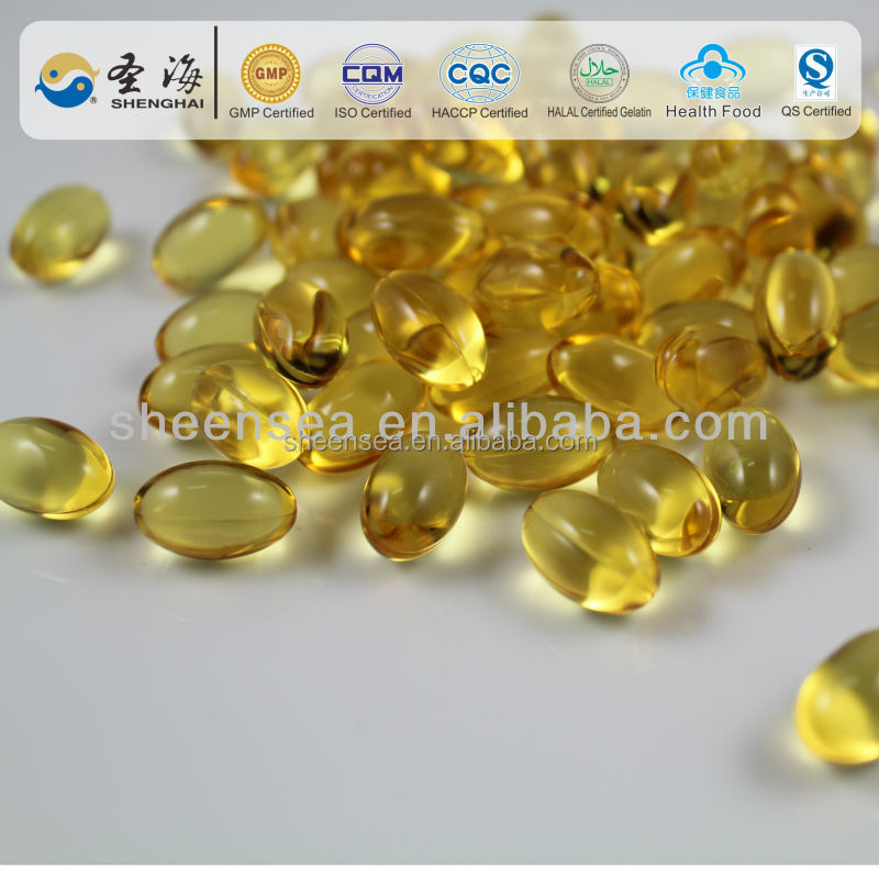 Nutrition Supplement cod liver oil Softgel Capsule prevent high blood hypertension