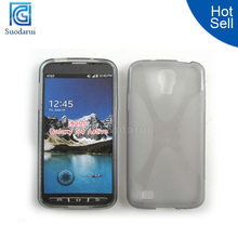 Hot Sale X Line TPU Case for Samsung Galaxy S4 Active I9295 cover for galaxy s4 active