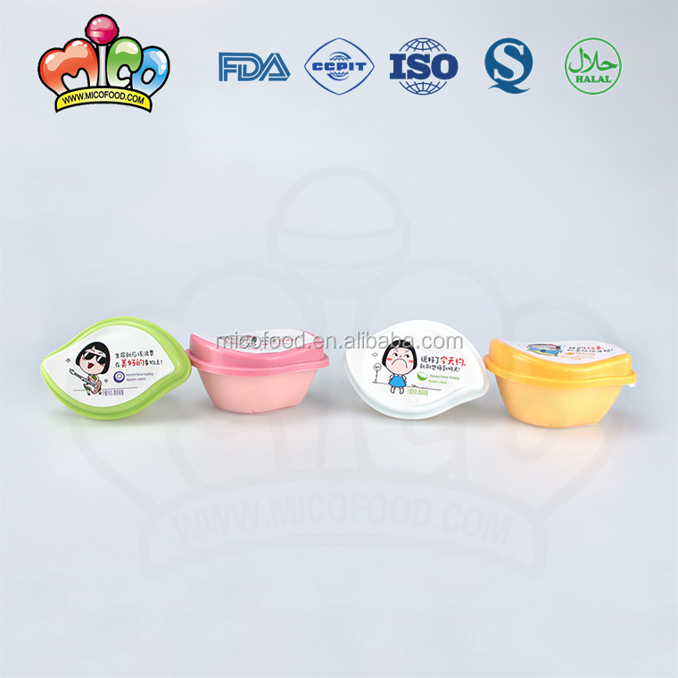 funny shaped fruit flavor pudding