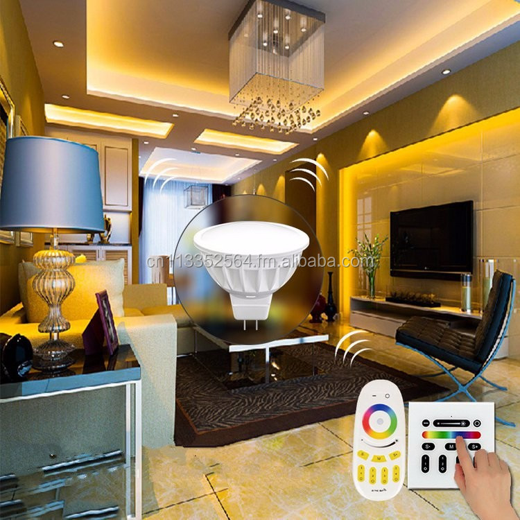 Hot sale AC/DC12V 2.4G wireless WIFI MR16 rgbw led Spotlight