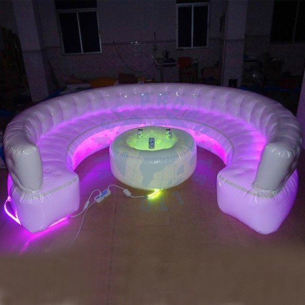 Giant Cheap Inflatable Sofa with LED Lamp (PLAD32-122)