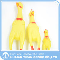 Hot sale pet toys funny sounding rubber shrieking chicken screaming chicken