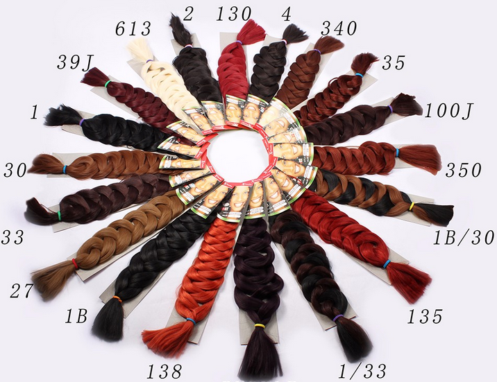 82Inch Folded Super long Synthetic Hair Jumbo Braids 165g Synthetic Ombre Super Jumbo Braiding Hair Yaki