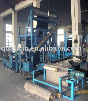 vertical fabric slitting machine