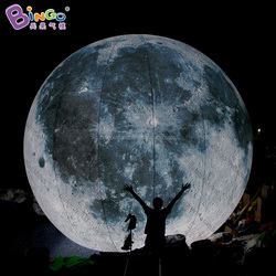 Planet type large floating water pool inflatable moon globe ball with LED light