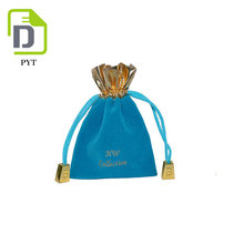 Suede pouch velvet jewelry drawstring bag with printed logo wholesale custom