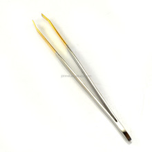 Gold colour plating eyebrow tweezers with cheap wholesale price