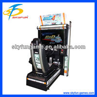 best sell 32 inch Initial D4 initial d out burn cars video arcade machine