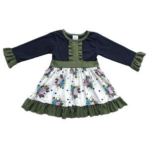 d5cea72da1a Hot Selling Girls Kids Frocks Autumn Color Smocking Cute Remake Floral  Flower Cotton Dress
