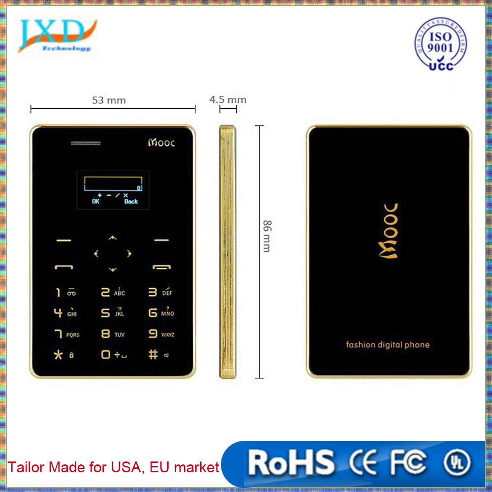 4.8mm Ultra Thin MOOC X5 Children Card Mobile Phone Pocket Mini Phone Low Radiation Cell phone