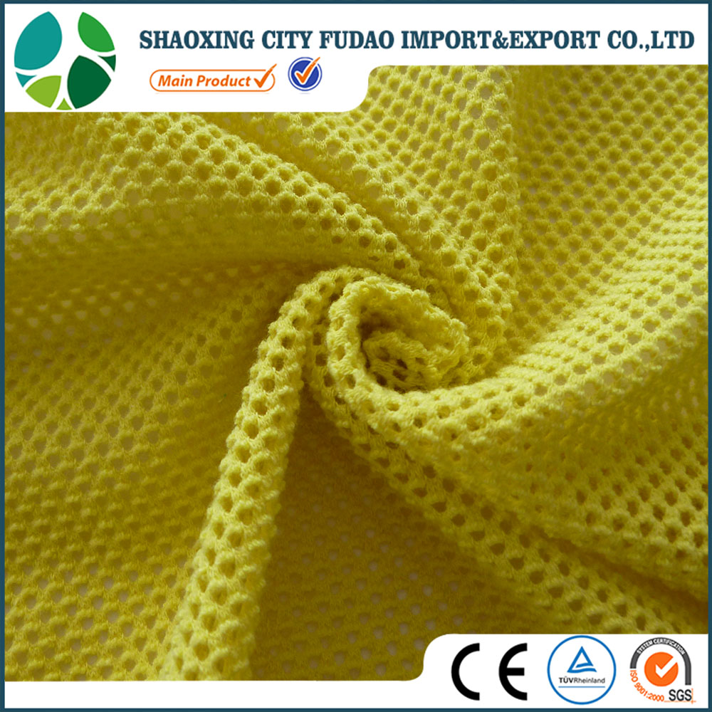 Polyester cotton 3d Air Mesh Fabric for garments, sports shoes and hats