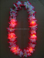 Led Light Up Flashing Hawaiian Lei Floral Necklace