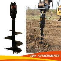 Rock Auger with Double Start and Double Flight for Drilling