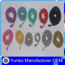 Yunbo Rolling Stainless Steel Ball Chain Bulk Cheap Jewelry Chain from 1mm to 12mm