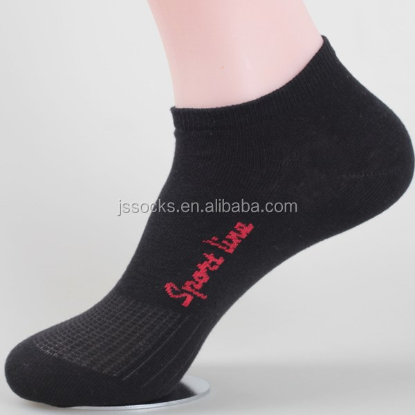 Custom Knit Socks Low Cut Socks Men Black Socks