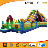 2016 new design gaint inflatable bouncer/inflatable slide for commercial use