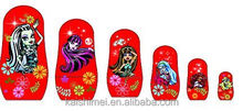 New design Plastic Nesting dolls customized matryoshka doll for Promotion gift