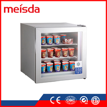 Hot sale SD55 small ice cream display freezer mini upright freezer