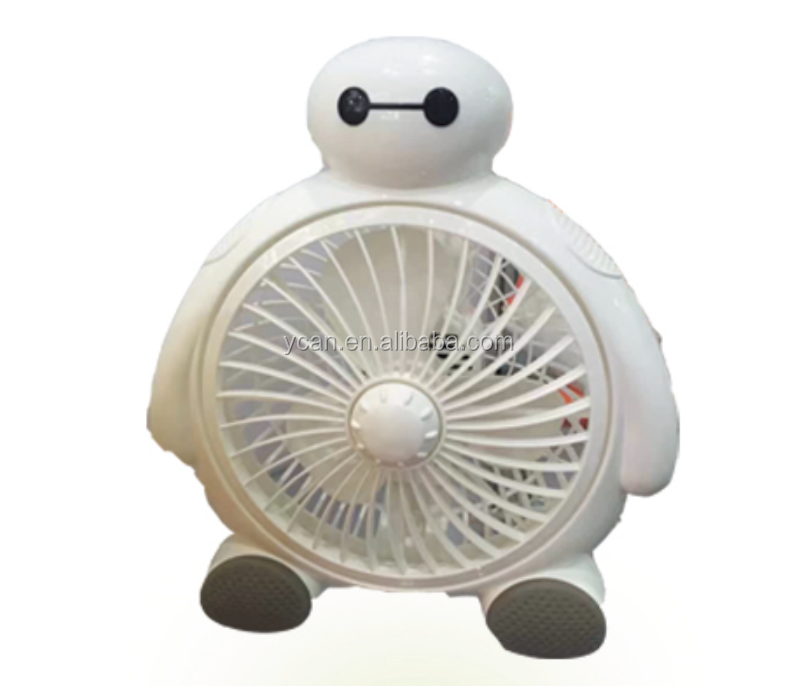 YK-CF06 Cute Baymax table Fan with 2 speed wind control ,lovely cartoon animal Fan
