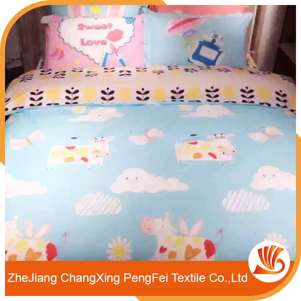 Hot sale cartoon designs embroidery bed cover